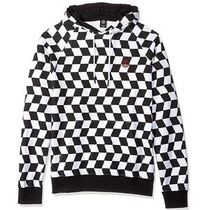 NWT NEFF checkerboard black white hoodie checker